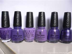 OPI China Glaze purple nail polishes