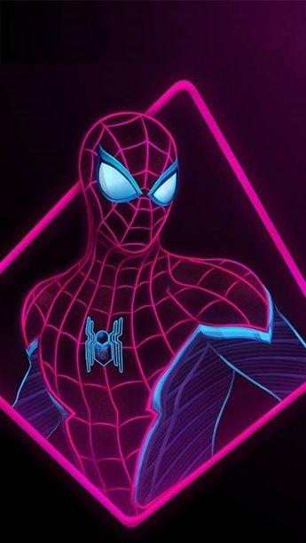 Spider Man Neon iPhone Wallpaper- Thaod Denvers