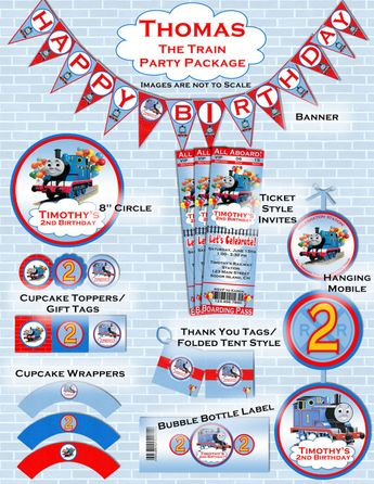 Thomas The Train Inspired Birthday Party Package