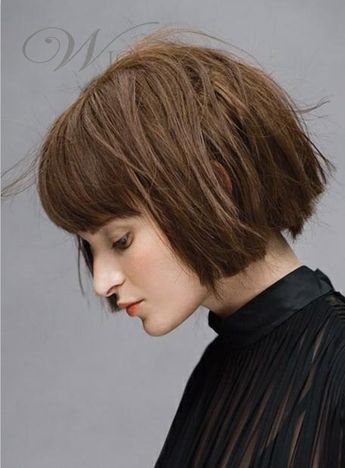 Simple Pretty Exquisite Short Straight 100% Real Human Hair Wig 8 Inches