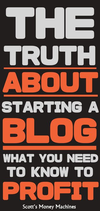 The Truth About Starting A Blog (so you can profit from your blog)