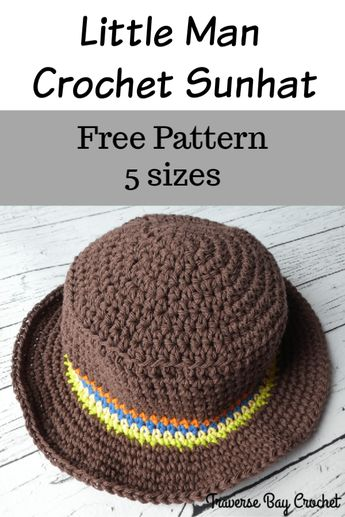 Little Man Crochet Sunhat -