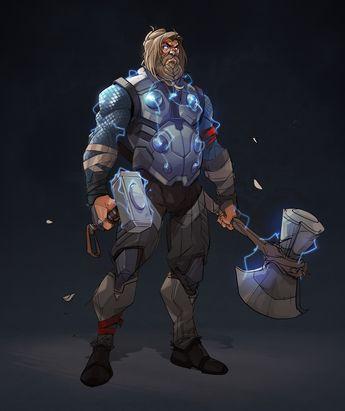 ArtStation - Thor - Endgame, Hicham Habchi