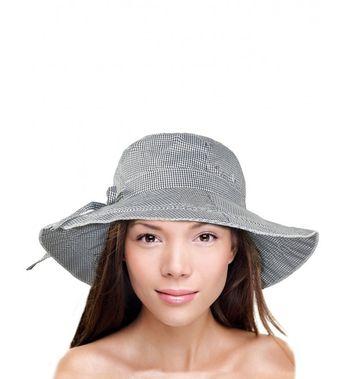 5857d8b5b3c Women s Summer Sun Hat Gingham Wide Brim Bucket Hat Gray CD11ZR0XOQH