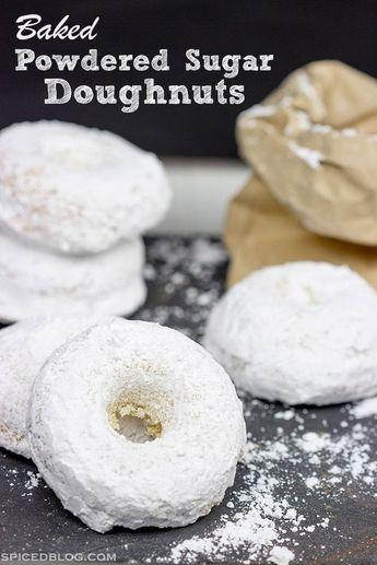 Baked Powdered Sugar Doughnuts