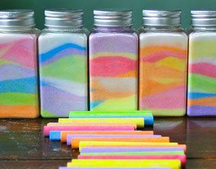 MAKE RAINBOW SALT JARS