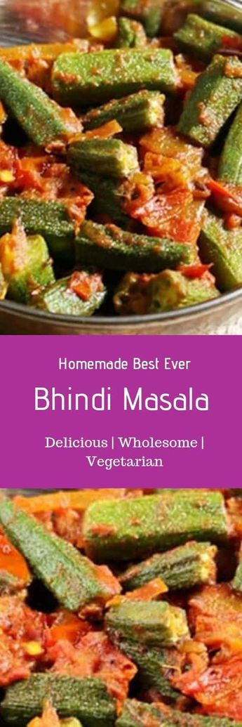 Bhindi Masala recipe with step by step photos. A delicious north Indian bhindi masala recipe to serve with rice or roti. This simple semi dry curry recipe with ladies fingers or okra is easy and quick to make. Very tasty an flavorful bhindi recipe that goes well in lunch box also. Recipe via cookclickndevour.com #bhindimasala #punjabibhidi #bhindirecipe #cookclickndevour