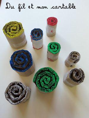 Pour faire des empreintes de spirales                                                                                                                                                                                 Plus