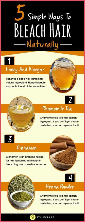 Diy At Home Natural Hair Lightening Color Removal