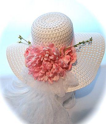 ff2d81ffd80 Girls Easter Sunbonnets Tea Party Hat Flower Girl Hats GH-1