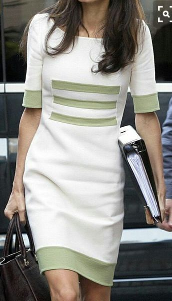 waist emphasized with green bands