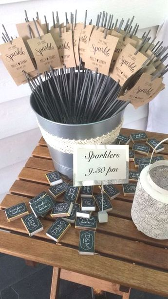 rustic unique sparkler wedding favor concepts weddingideas weddingphotos weddingexits weddingsparklers #weddingplannerbook