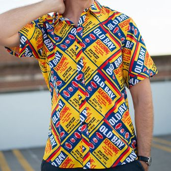 02d4337a Route One Apparel @routeoneapparel. 5w 0. Old Bay Can Pattern / Hawaiian  Shirt