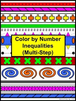 Solving Multi Step Equations B Color By Number