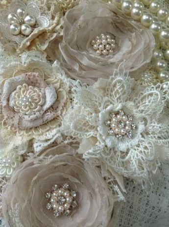 26 New Ideas For Craft Fabric Flowers Shabby Chic #craft #flowers