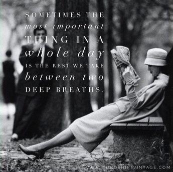Two Deep Breaths…