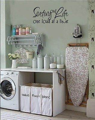 Details about Sorting Out Life One Load At A Time Laundry Room Vinyl Decal Stickers Lettering