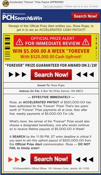 PCH Big Check Asks: Who Wants Their Name On A PCH Pay Day C