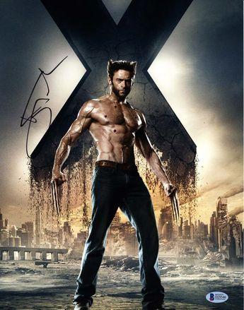 Hugh Jackman X-Men Wolverine Logan Signed 11x14 Photo Certified Authentic Beckett BAS COA