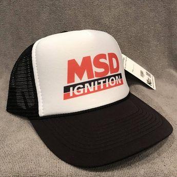 0b68aabd6e0 MSD Performance Ignitions Trucker Hat Vintage Mesh Snapback Sponsor Cap!  2284