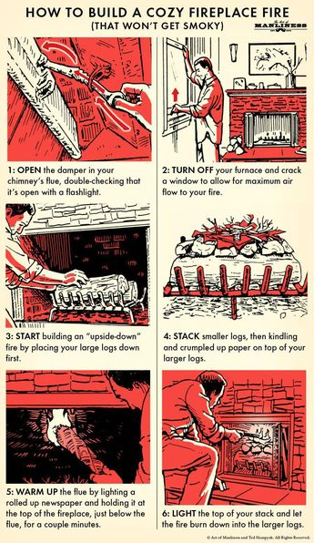 How to Build a Cozy Fireplace Fire (That Won't Get Smoky) | The Art of Manliness #HowtoPurifyDrinkingWater