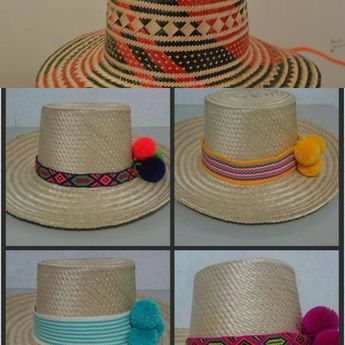 a2f0f0eec485f SOMBRERO WAYUU DECORADO❤beautiful hat decorated with weave