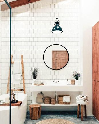 """Nomadic Fabrics on Instagram: """"The natural light in this bathroom is a dream ☁️☁️⠀⠀⠀⠀⠀⠀⠀⠀⠀ ⠀⠀⠀⠀⠀⠀⠀⠀⠀ #currenthomeview #flashesofdelight #bathroominspo #bathroomgoals…"""""""