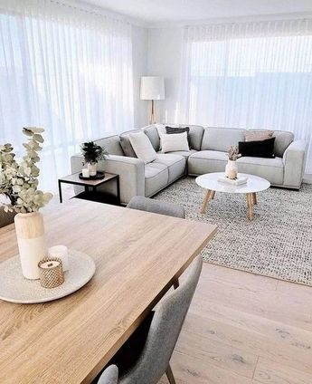 The Scandinavian style has been very popular in recent years, because its color matching makes the room space look very comfortable and can be very impressive. Whether it is hard or soft, it is very young and fashionable, making the home simple and tasteful. The comfortable and natural Scandinavian style is very similar to the modern minimalist style and is very popular among young people.  #LivingRoomDesignIdeas #ComfyLivingRoomDesignIdeas #ScandinavianLivingRoomDesignIdeas