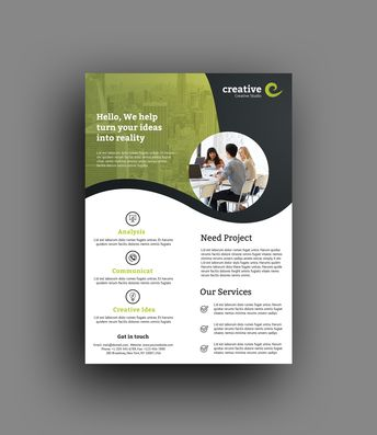 Barcelona Elegant Professional Business Flyer Template - Graphic Templates