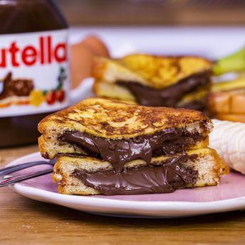 Surprise ! On vous a préparé un merveilleux pain perdu fourré au chocolat !