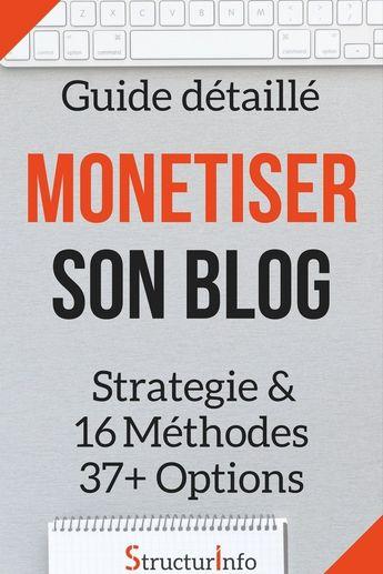 Comment Monétiser son Blog - Guide avec 16 Méthodes, 37+ Options, Stratégie