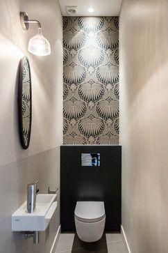 Paris 17, 90m² contemporary-powder-room