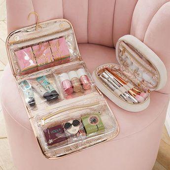 Benefit Gorgeous Makeup Bag, Blush - Decor - Jewelry + Beauty Organizers