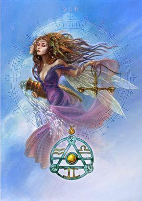 Elemental Air Talisman and Card Gift Set - Venus Mercury Uranus Planetary Sigils - Libra Gemini Aquarius Pendant