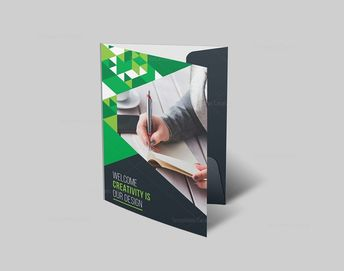 Business Folder Template with Stylish Design - Graphic Templates