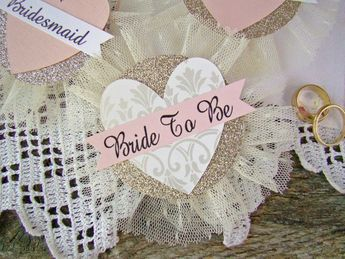 bride to be pin bride badge bridal shower corsage custom name party pins