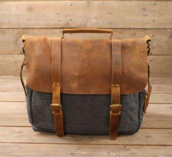 Waxed Canvas Messenger Bag   Leather Messenger Bag   Laptop Messenger Bag    Men Messenger Bag 4feafc80c967d