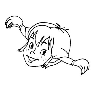 Pippi Longstocking Coloring Page But I Like It For Appliqu