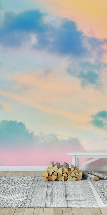 Unicorn Pastel Clouds 4 Wall mural