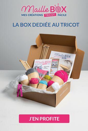 Découvrez la Maille Box, LA box dédiée au tricot et recevez chaque mois le matériel nécessaire à la réalisation d'un plaid, pas à pas, et un accessoire mode ou déco au choix.  Profitez-en, la 1ère box est au prix exceptionnel de 5€ !