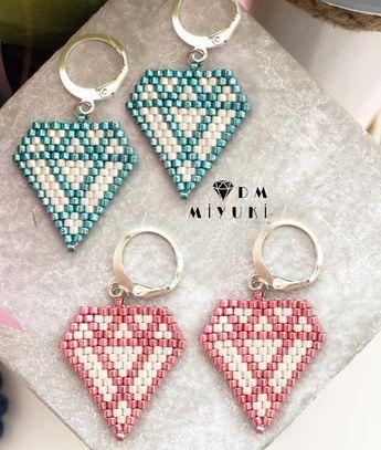Mutlu Hafta Sonları Diamond ———————————————— #miyuki #moda #fashion #tarz #colors #beads #handmade #design #stylish #style #jewelry #happy #love #instalove #instagood #instalike #instajewelry #instago #fashion #moda #trend #elemeği #accessories #diamond #küpe #earrings#instalike #like4like #art #colors #colorful #beads #