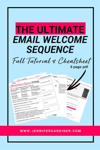 The Ultimate Email Welcome Sequence — Jen Gardiner