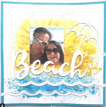 12x12 Scrapbook Layout - Beach - Inspired By Missy Whidden - cs-getcrafty.com #vacationscrapbook