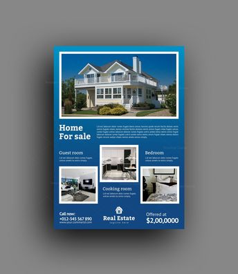 Classy Real Estate Flyer Design Template - Graphic Templates