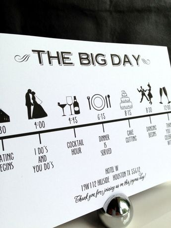 Custom DIY Printable Wedding Timeline in by GraceWarrenDesigns, $35.00