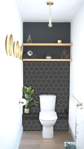 Kitchen and Bathroom Splashback - Removable Vinyl Wallpaper - Hexa Ebony - Peel & Stick