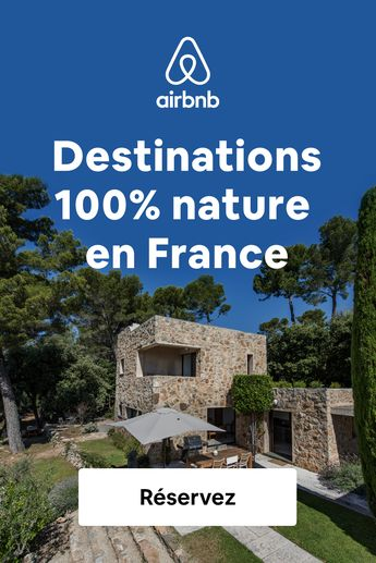 Découvrez des milliers de logements partout en France pour vos escapades champêtres.