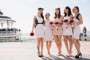 d219db2a6a6f 50s Mod Inspired Wedding With An Outdoor Ceremony At Brighton Bandstand And  Reception At Stanmer House