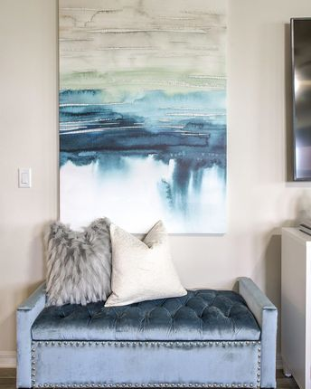 🔊 The full reveal of our Ocoee Living Room Project is coming tomorrow!!!!! For now, enjoy this small preview ☺️ This space is full of neutrals with vibrant pops of blues and greens! This will be an epic before and after so be sure to check back tomorrow afternoon 👀👀👀👀👀 You don't want to