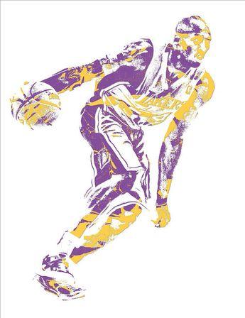 d53edb627aa Kobe Bryant Los Angeles Lakers Pixel Art 26 Art Print by Joe Hamilton